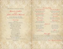 Ceremony Program for Destination Wedding