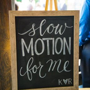 Slow Motion Booth Signage