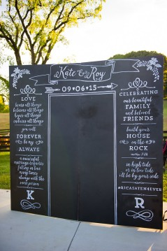 Custom Chalkboard Backdrop